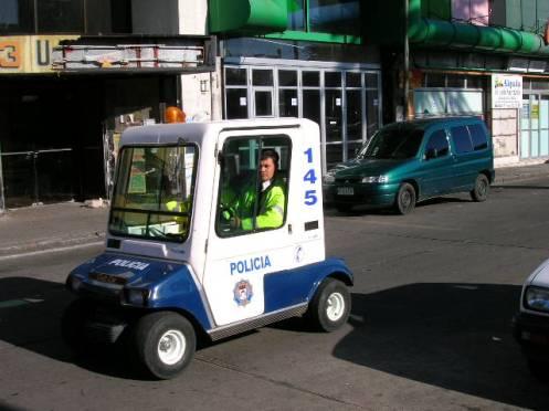 Police car in Maldonado Uruguay