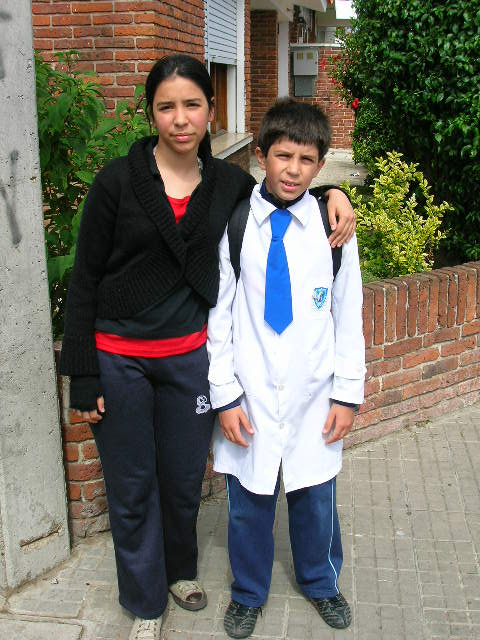 Brother and sister picture from Uruguay