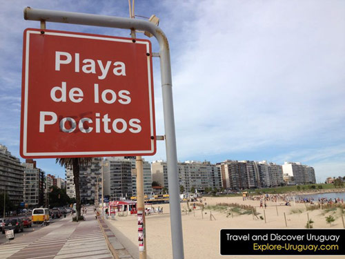 Pocitos Beach Uruguay in Montevideo