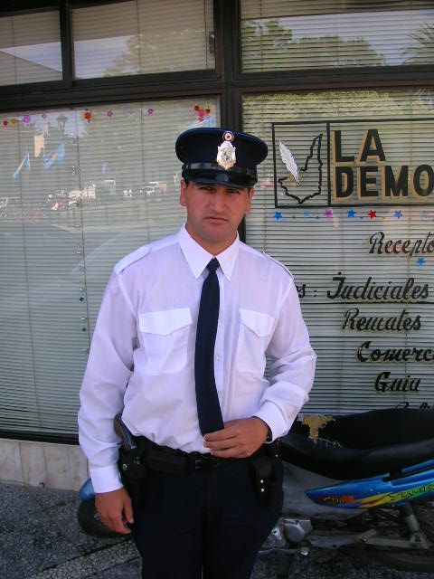 Policeman picture in Uruguay