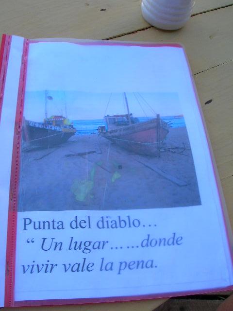 Punta del Diablo Menu Picture