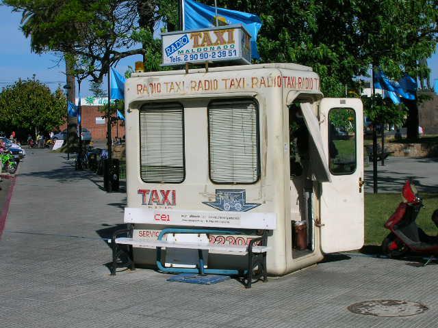 Taxi stand  Picture in Maldonado Uruguay