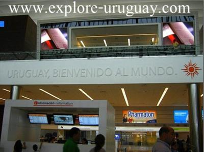 Carrasco Airport Motto - Welcome to the World