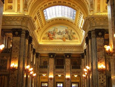 Hall of Lost Steps<br> located in the Legislative Palace in  Montevideo Uruguay