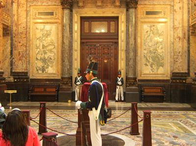 Main Hall of the  Legislative Palace in Montevideo Uruguay