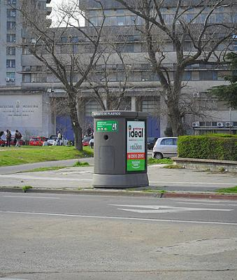 Recycling bins in Montevideo Uruguay