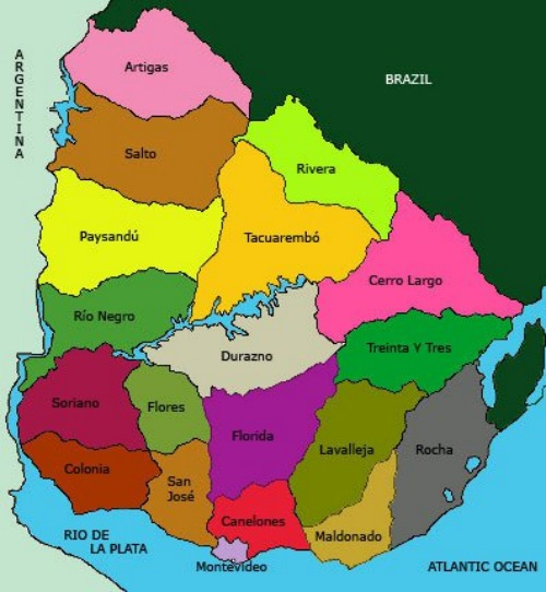 Map of Uruguay Explore Uruguay – Uruguay Tourist Attractions Map