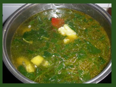 A yummy Vegetable soup for a cold  day