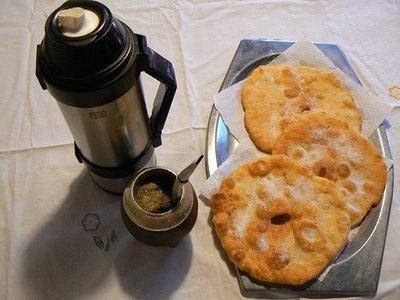 A light biscuit like snack with Mate